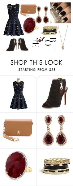 """Untitled #73"" by mduda0570 on Polyvore featuring Chicwish, Aquazzura, Tory Burch, Effy Jewelry, GUESS and Pamela Love"