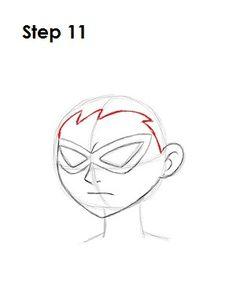 Cartoon Drawing Tips How to Draw Robin 11 Basic Drawing, Step By Step Drawing, Drawing Tips, Painting & Drawing, Drawing Ideas, Teen Titans Drawings, Cartoon Drawings, Animal Drawings, Robin Drawing