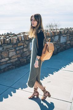 Saying hello to spring in this chic wardrobe staple from Splendid, the slip dress.