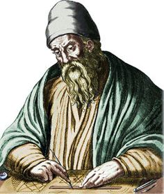 """Euclid wass a Greek mathematician. He was referred to as the """"Father of Geometry"""". He was active in Alexandria during the reign of Ptolemy I. His Elements is one of the most influential works in the history of mathematics Euclid Geometry, Britisches Museum, Conic Section, Library Of Alexandria, Alexandria Egypt, Number Theory, Prime Numbers, Classical Education, Ancient Greece"""