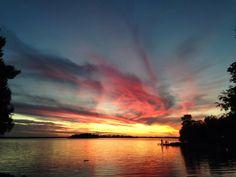 Sunset on a northern Minnesota lake.