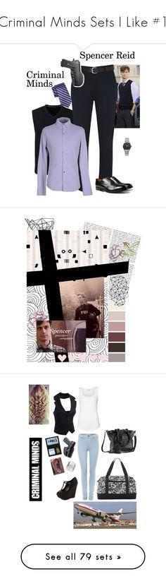 """Criminal Minds Sets I Like #1"" by nerdbucket ❤ liked on Polyvore featuring Lands' End, BLACK BROWN 1826, Holster, Citizen, Alpha Studio, Paul Smith, men's fashion, menswear, CriminalMinds and spencerreid"