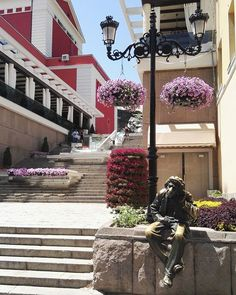 This old man statue will listen to your secrets. Plovdiv, Bulgaria