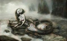 Monstruos zodiacales por Damon Hellandbrand. Piscis