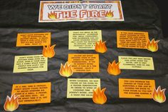 fire bulletin board | QQ: We Didn't Start the Fire - Fire safety tips. College Bulletin Boards, Fire Safety Tips, Ra Bulletins, Ra Boards, Self Defense Tips, Resident Assistant, Fire Fire, Fire Prevention, Internet Safety