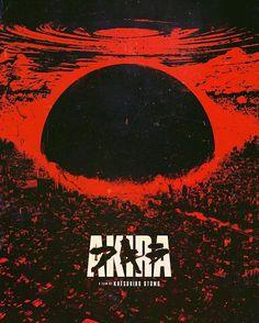 Akira Anime Movie, Akira Film, Ville Cyberpunk, Cyberpunk City, Best Movie Posters, Movie Poster Art, Poster Poster, Manga Anime, Anime Art