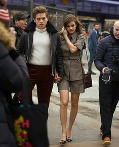 Dylan Sprouse with Barbara Palvin Dylan Sprouse, Barbara Palvin, Celebrity Couples, Celebrity Style, Dylan And Cole, Tumblr Boy, Kate Mara, Famous Couples, Romance
