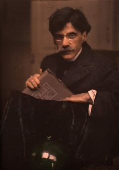 Edward Steichen (American, 1879–1973). Portrait of Alfred Stieglitz holding a copy of the journal Camera Work, 1907, Autochrome. The Metropolitan Museum of Art, New York