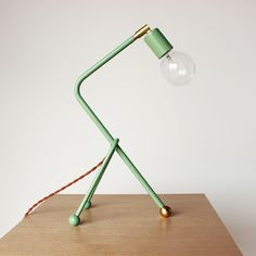 Tripod desk lamp. Stunning handmade lighting from the husband & wife duo behind the brand One Forty Three.