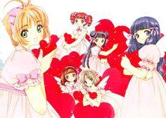 PinterestCardcaptor Sakura, Cardcaptor Sakura Illustrations Collection 3, Mihara Chiharu, Daidouji Tomoyo, Kinomoto Sakura