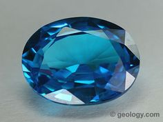 Blue Synthetic Topaz (faceted)