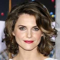 Keri Russell, Transformation, curly hair to wavy