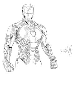 Iron Man sketched by me