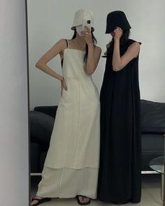 Cute Modest Outfits, Cute Dresses, Korean Street Fashion, Asian Fashion, Korean Streetwear, Black White Fashion, Minimal Fashion, Ulzzang Girl, Alternative Fashion