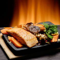 Imaginea rețetei File de somon cu cartofi dulci Steak, Steaks