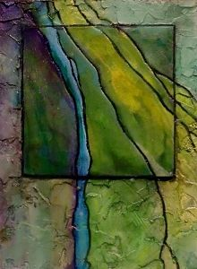Gemstone 8, 12069 by Carol Nelson mixed media ~ 8 x 6