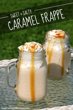 This Sweet & Salty Caramel Frappe is a little sweet, a little salty, and a whole lot of deliciousness! Creamy, cool, and refreshing! #FrappeYourWay #RealReddiWip #InDelight #Ad