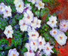 Claude Monet - Clematis. Hand painted oil painting reproductions available at overstockArt.com #art