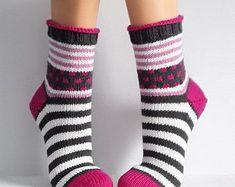 - The world's most private search engine Crochet Socks, Knitted Slippers, Knitting Socks, Hand Knitting, Knit Crochet, Knitted Heart, Knitted Bags, Lots Of Socks, Cozy Socks