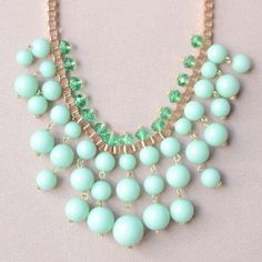 "MINT DROPS Beaded Collar Necklace The ""Mint Drops"" Beaded Collar Necklace is designed to rest beautifully on the collar either high or low. A perfect pastel mint, this is a must-have for your spring closet. Style Notes: Let yours take center stage against a white classic button up shirt or white dress. Shipping Info: Same day shipping for quick arrivals! Special Offer: 15% off when you bundle 3 or more items (offer valid for a limited time until March 19, 2016) CB Boutique Jewelry Necklaces"