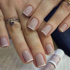 Classy Nails, Stylish Nails, Simple Nails, Trendy Nails, Simple Elegant Nails, Fancy Nails, Diy Ongles, Bridal Nails Designs, Nagellack Trends