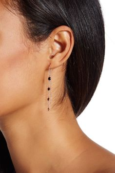Nordstrom Rack - Four CZ Bezel Linear Threader Earring at Nordstrom Rack. Free Shipping on orders over $100.