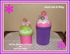 DIY- DULCEROS NAVIDEÑOS CUPCAKES con material reciclado / candy holders