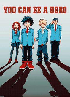 Ochako, Izuku, Katsuki, and Tenya - Boku no Hero Academia