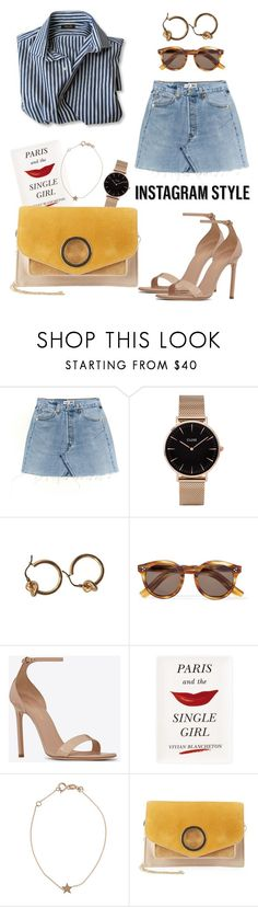"""""""INSTAGRAM STYLE 001"""" by alice-muzi ❤ liked on Polyvore featuring CLUSE, Illesteva, Yves Saint Laurent, Kate Spade, Kismet, Halston Heritage, 60secondstyle and PVShareYourStyle"""
