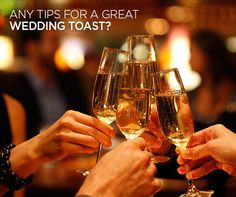 Any Tips For A Great Wedding Toast? Check out Colin Cowie's answer: http://www.colincowieweddings.com/ask-colin/etiquette/any-tips-for-a-great-wedding-toast