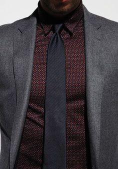 Patterned dark brown