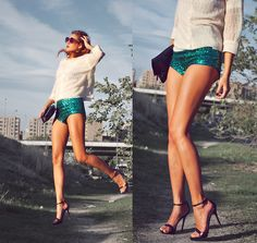 GREEN BUTTERFLY (by Andrea Gomez www.lotoflooks.com) http://lookbook.nu/look/4179424-GREEN-BUTTERFLY