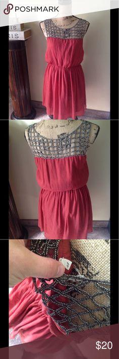 Dress/shirt Can be worn as a dress or shirt. Super cute! Beaded top chain look Dresses Mini