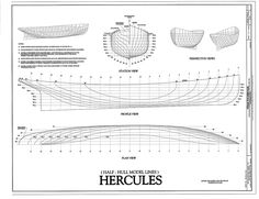 free, ship, plan, steam, tug, Hercules, lines, drawing, boat, vessel
