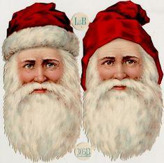 L and B (Littauer & Boysen) Vintage Christmas Santa Victorian Scraps via http://www.ekduncan.com/2012/12/vintage-christmas-santa-victorian-scraps.html#