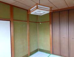 古いじゅらく塗り壁の和室。
