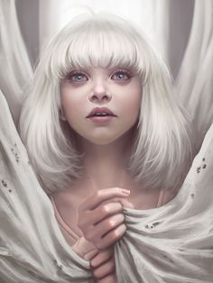 "Ayya Saparniyazova. Ayya's Maddie Ziegler (Sia - Chandelier): ""based on a dancing girl in the video of Sia - Chandelier. I immediately decided that I should paint her portrait!"""
