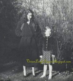 Vivien Leigh and daughter Suzanne.