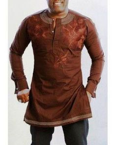 African Clothing -Cute Embroidered Native Design For Men.. http://dabonke.blogspot.com/2015/05/african-clothing-cute-embroidered.html