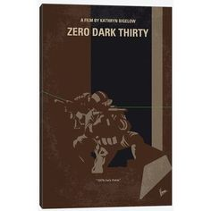 East Urban Home 'Zero Dark Thirty Minimal Movie Poster' by Chungkong Vintage Advertisement on Wrapped Canvas Size: