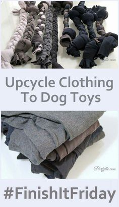Idea - don't throw out those old jeans; turn them into dog toys instead.