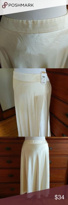 Gorgeous Talbots Pure Silk skirt NWT Cream, silk, size 10, NWT Talbots Skirts Maxi