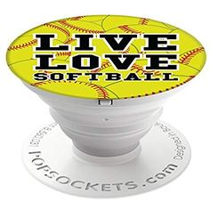 PopSockets Brave New Look Live Love Softball PopSockets Cell Phone Stand for Smartphone/Tablet Softball Popsocket, Softball Crafts, Softball Pitching, Softball Players, Softball Stuff, Softball Things, Softball Jewelry, Softball Workouts, Softball Catcher Quotes