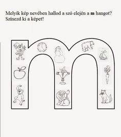 Játékos tanulás és kreativitás: Új betűket tanulunk: m, t, s Dysgraphia, Aphasia, Pre School, Worksheets, Literature, Language, Lily, Classroom, Letters