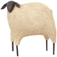 Sheep Large Black Faced Primitive Country Rustic $14.99