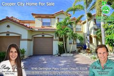 FOR SALE ~ Awesome 4 bed, 3 bath townhome in Darlington Park, Cooper City. Home features open floor plan with one bed & bath on first level. Kitchen with granite tops is open to family room. Call Patty at 954-667-7253 and visit www.Patty.WeLoveSouthFlorida.com