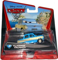 Disney / Pixar CARS 2 Movie 155 Die Cast Car #28 Vladimir Trunikov by Mattel Toys. $10.97. All your favorite characters from the Disney Pixar film, CARS 2, in 155th scale. With authentic styling and details, these die cast characters are perfect for recreating all the great scenes from the movie. Collect them all!Star racecar Lightning McQueen and the incomparable tow truck Mater take their friendship to exciting new places in Disney Pixar Cars 2 when they head overseas to com...