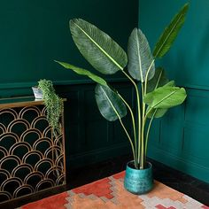 The Faux Travellers Palm Tree is an elegantly simple design that can be shaped as you wish. Paddle shaped leaves create a beautiful fan shape. Indoor Palm Trees, Fake Palm Tree, Indoor Palms, Vase With Branches, Tree Branches, Travellers Palm, Banana Palm, Tropical Interior, Unusual Homes