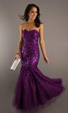 Purple sequin mermaid gown