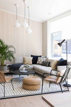 Living Room Lounge, Home Living Room, Boho Decor, Dining Bench, Architecture Design, Outdoor Furniture Sets, Interior Design, House, Inspiration